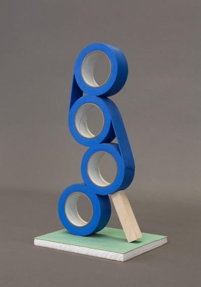 Matt Johnson, Untitled (4 Stacked Tape Rolls), 2016