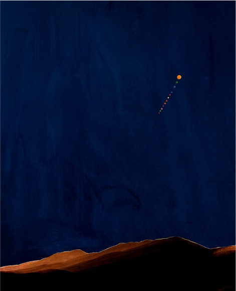 Florian Maier-Aichen, Nacht im Riesengebirge [Night in the Riesengebirge], 2011