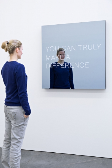 Jeppe Hein, YOU CAN TRULY MAKE A DIFFERENCE, 2015
