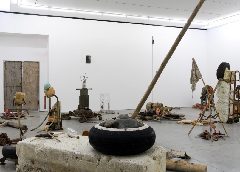 Mike Nelson, Gang of Seven, 2013, Installation at 303 Gallery, 2015