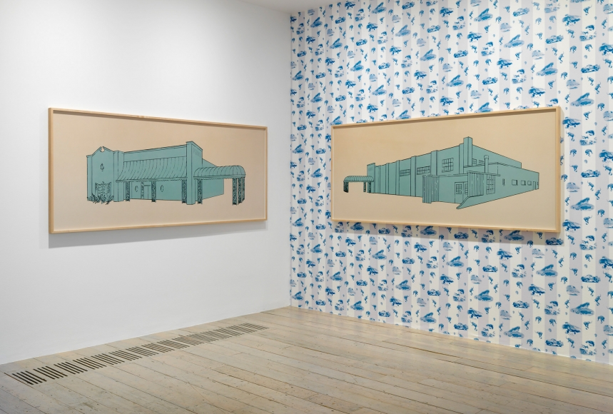 Larry Johnson, Installation view: On Location Raven Row, London, 2015