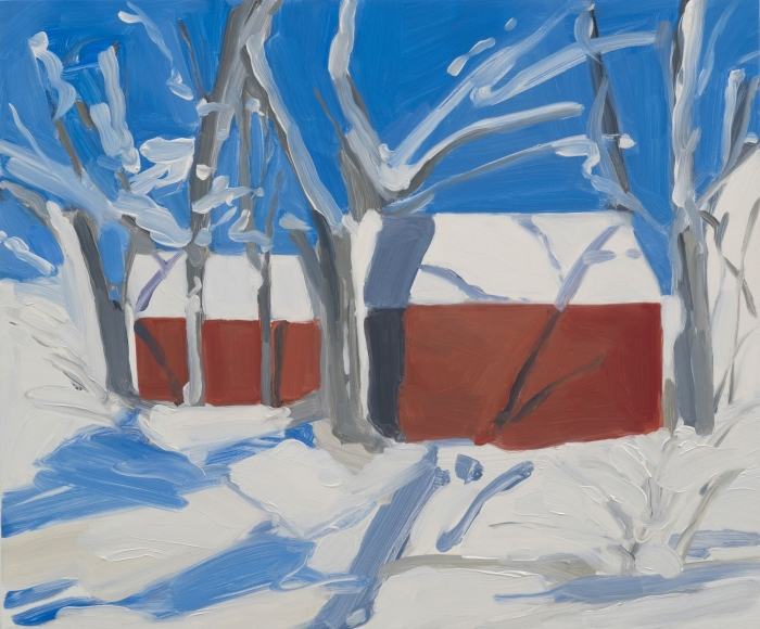 Maureen Gallace, Ice Storm, Easton (with Robert), 2015