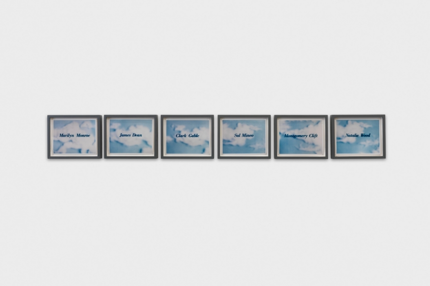 Larry Johnson, Untitled (Movie Stars on Clouds), 1983
