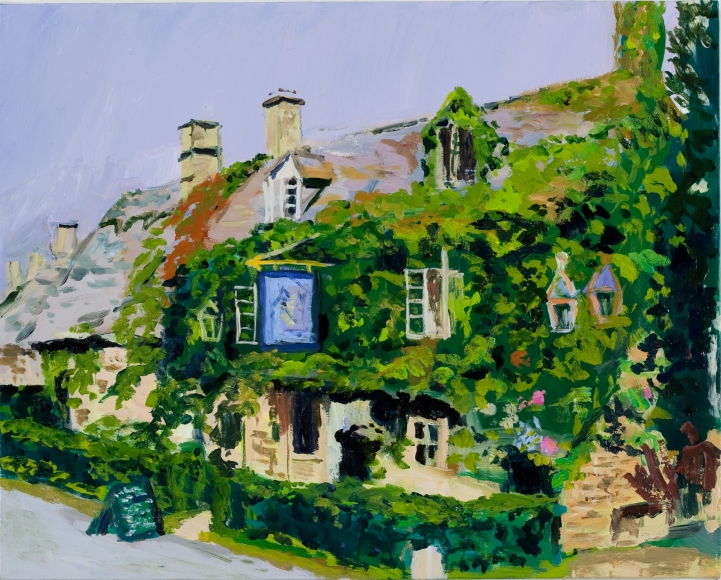 Karen Kilimnik, the village pub, Little storping-by-the-sea, 2011