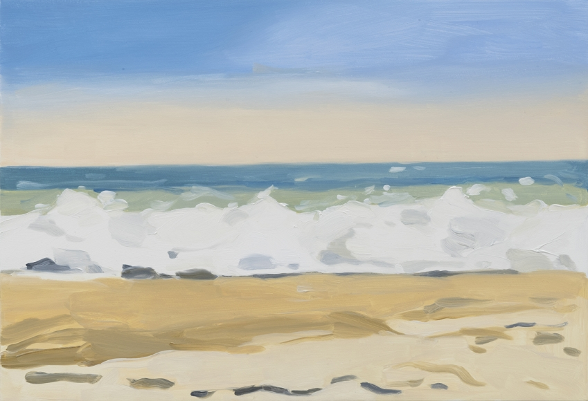 Maureen Gallace, Beach/wave/late day, 2017