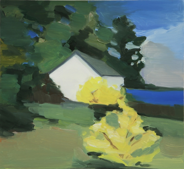 Maureen Gallace, Lake House with Forsythia, 2006