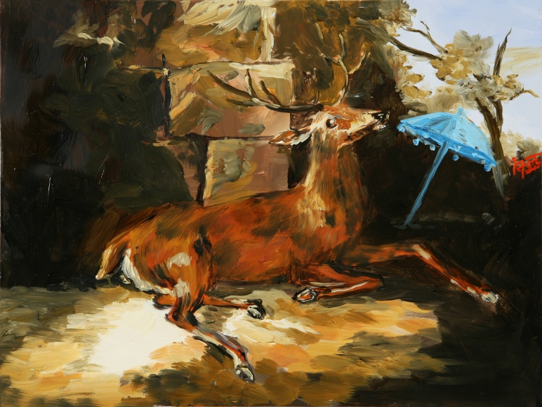 Karen Kilimnik, the Malaysian deer in France, 2006