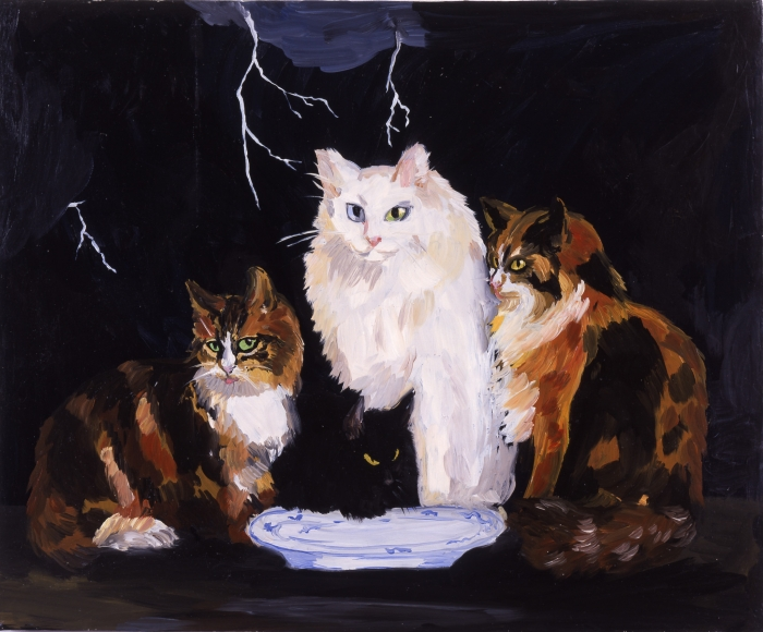 Karen Kilimnik, Surf & Turf, Belgian Cats on the Northern Coast of Belgium, 1996