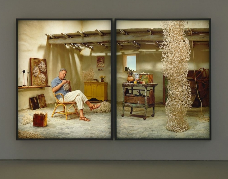 Rodney Graham, Pipe Cleaner Artist, Amalfi, '61, 2013