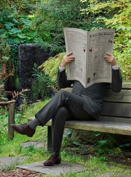 Rodney Graham, Newspaper Man, 2017