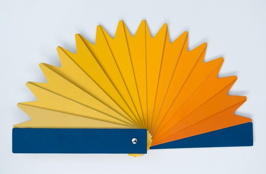 Marina Pinsky, Plein Air (Yolk Color Fan), 2016
