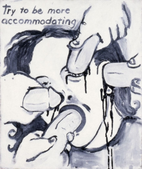 Sue Williams, Try To Be More Accommodating, 1991