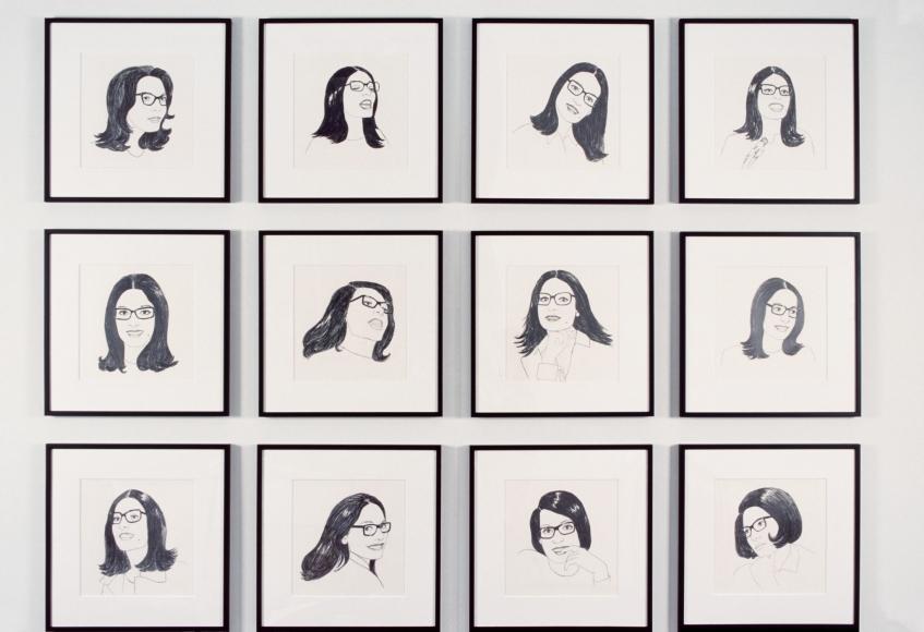 Shannon Oksanen, Installation view: Caught, 303 Gallery, 1999