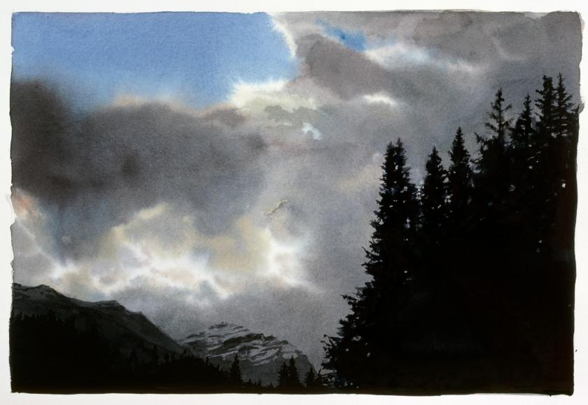 Tim Gardner, Untitled (Cloud Break Over Mt. Temple), 2002