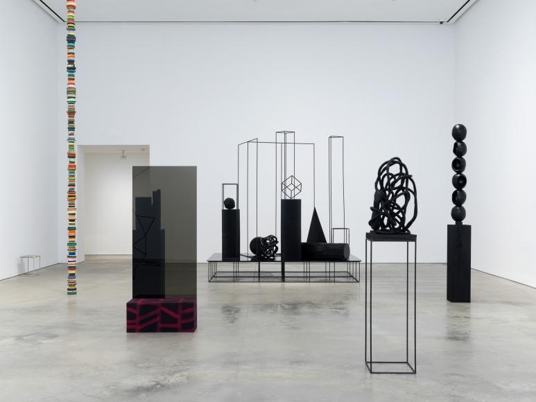 Installation view: Eva Rothschild, A Material Enlightenment, 303 Gallery, New York, 2017
