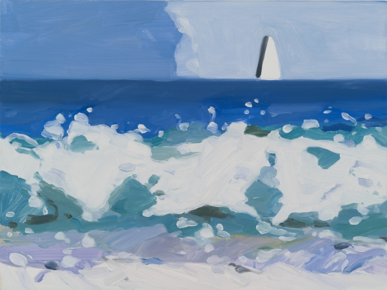Maureen Gallace, Wave/Boat, 2014