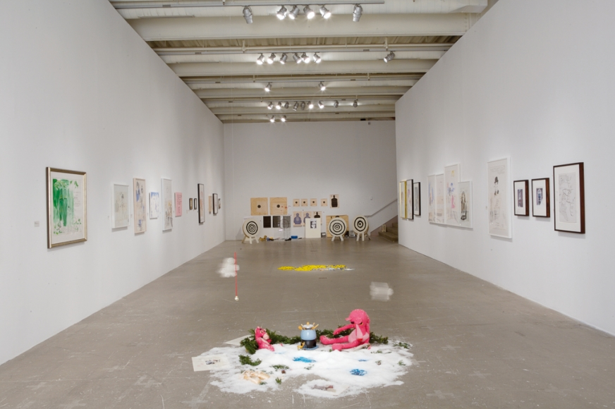 Karen Kilimnik, Installation view: ICA, Philadelphia, 2007