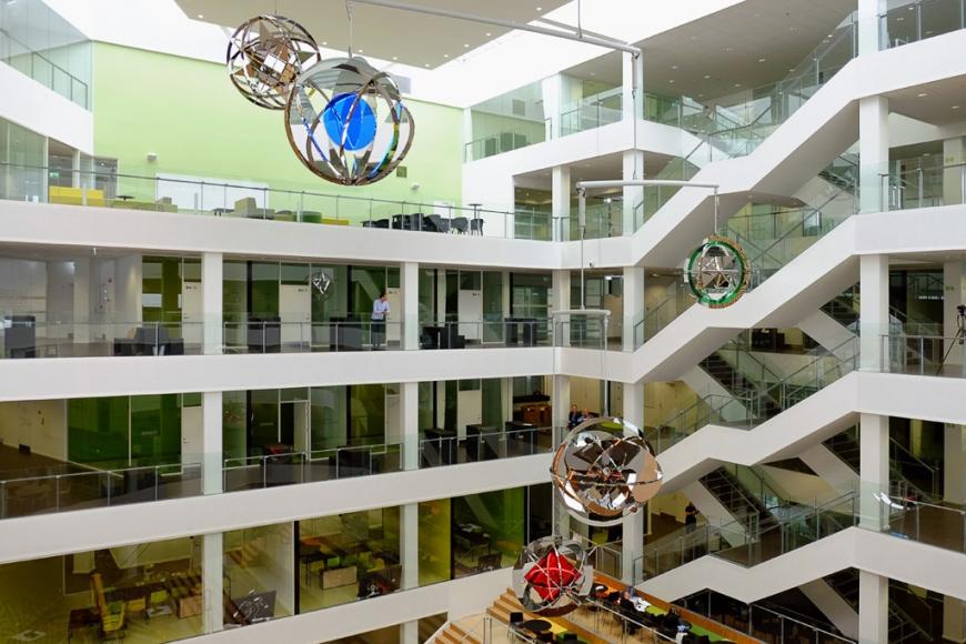 Jeppe Hein, Mobile of Enlightenment, 2015, Permanent Installation: VIA University College, Aarhus, Denmark