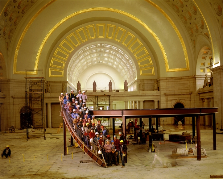Neal Slavin Union Station and Restoration Crew, Washington DC, 1988
