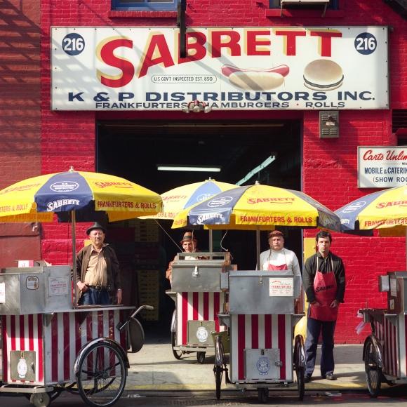 Neal Slavin Sabrett Hot Dog Vendors, 1974