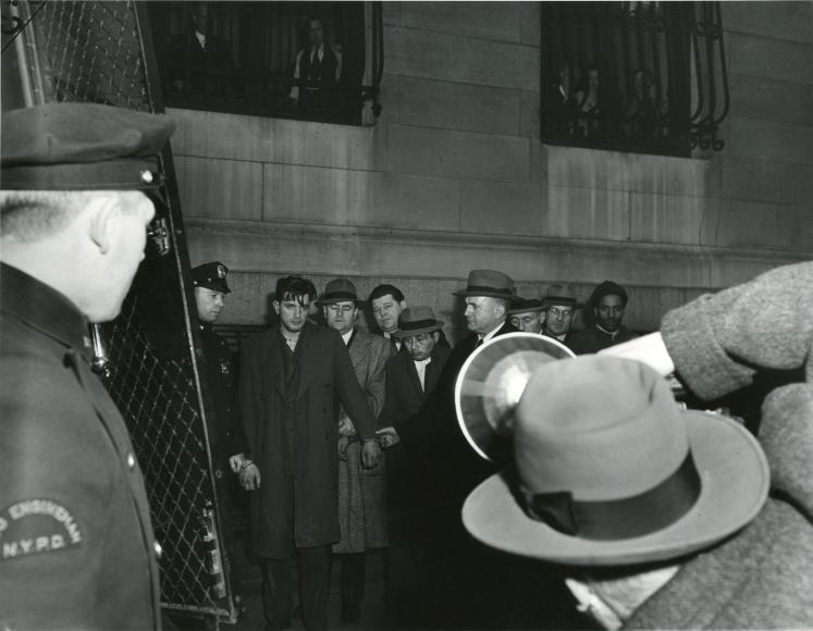 Weegee Perp Walk. ca. 1942