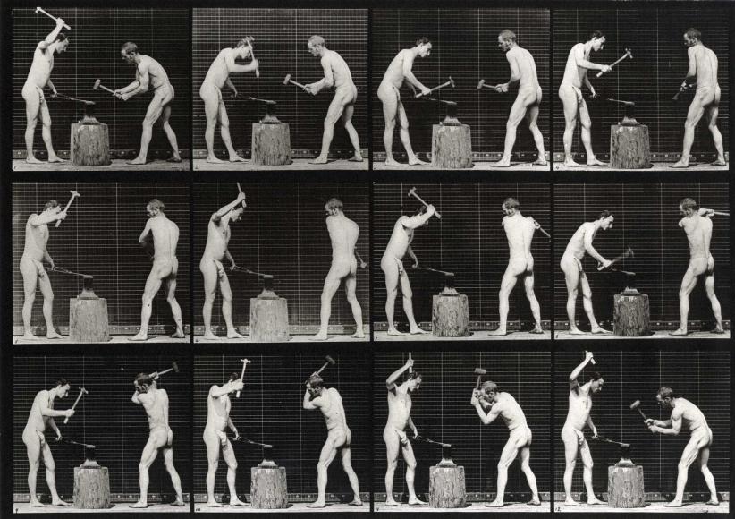 Eadweard Muybridge Blacksmiths plate 374