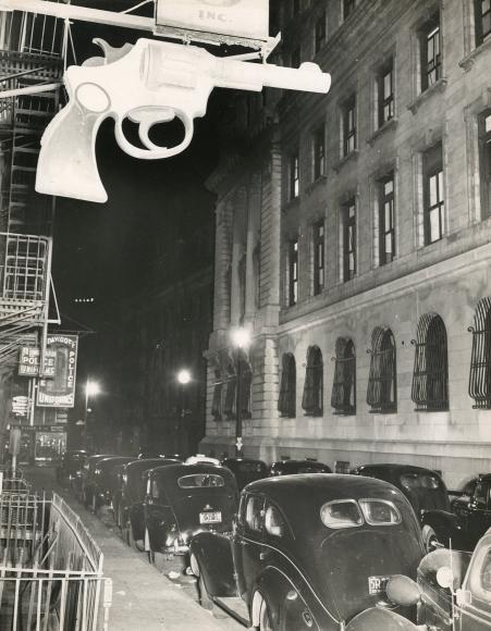 Weegee Scene at Manhattan Police Headquarters, c. 1940