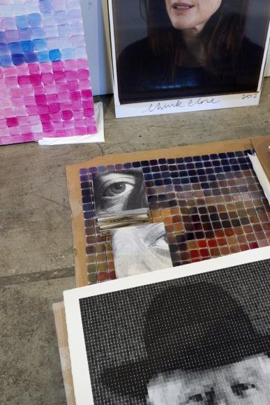 Christopher Rauschenberg, Chuck Close's studio, 2013