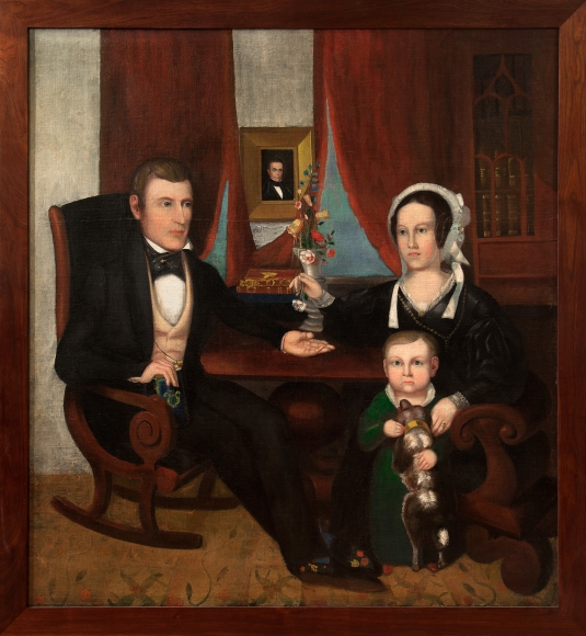 Family Mourning Portrait In The Parlor by Calvin Balis