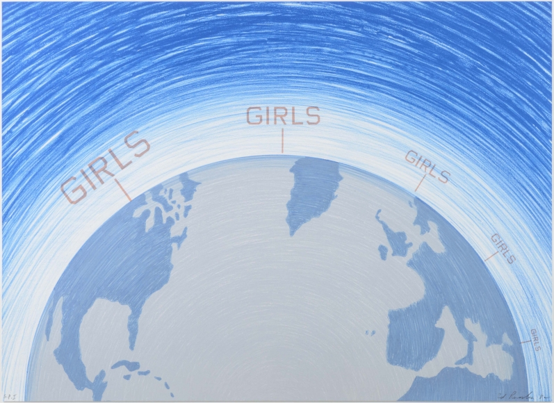 Ed Ruscha, Girls, from the World Series, Lithograph