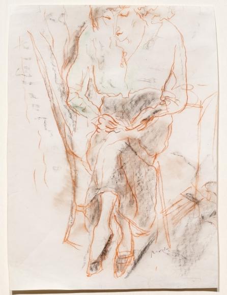 Jules Pascin, Hermine Cousant, sepia drawing