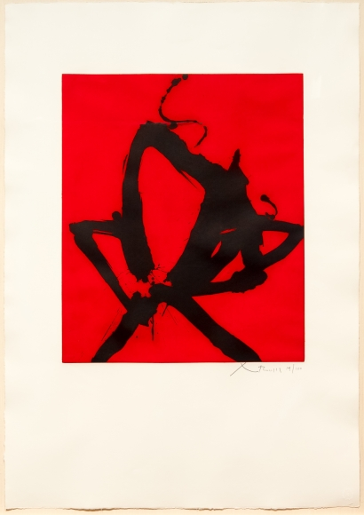 Robert Motherwell, Red Sea I, Aquatint