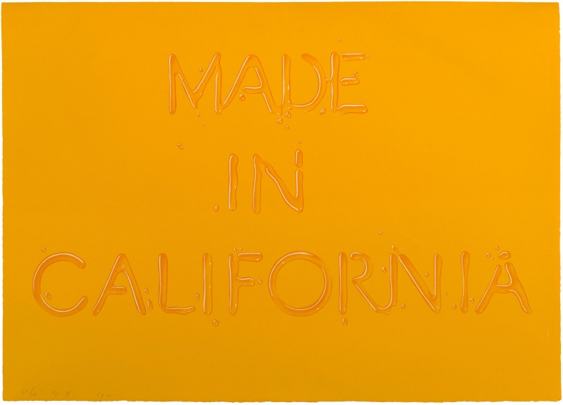 Ed Ruscha, Made in California