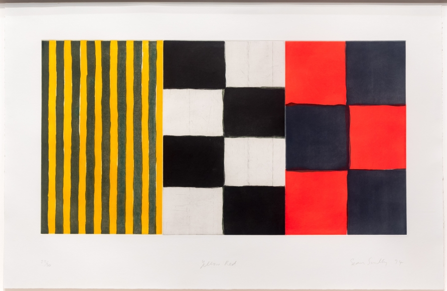Sean Scully, Yellow Red, Etching
