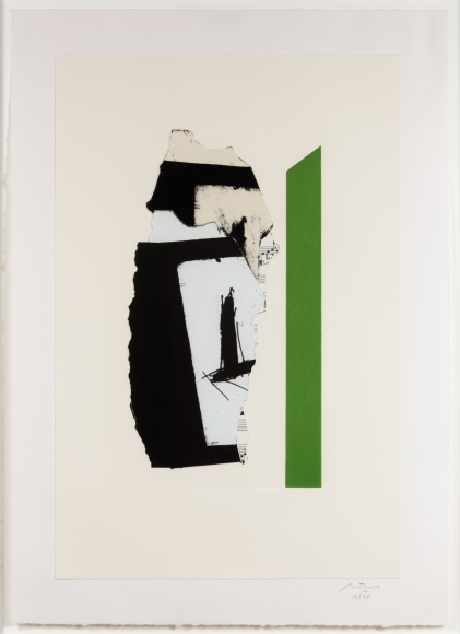 Robert Motherwell, In White with Green Stripe, lithograph