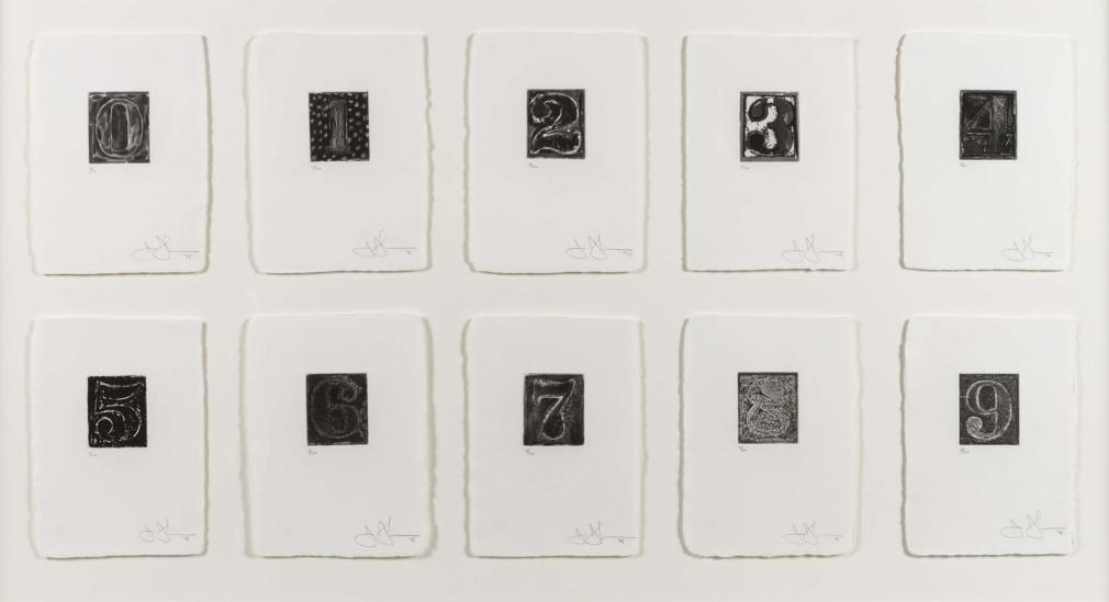 Jasper Johns, 0-9, etching