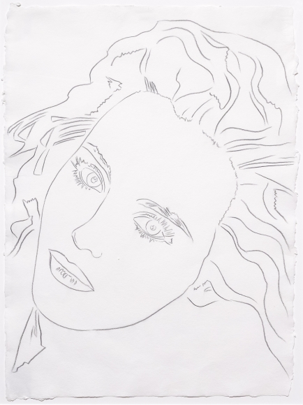 Andy Warhol, Portrait of Isabel, Drawing