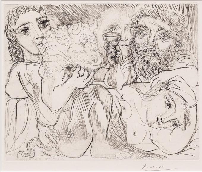 Pablo Picasso, Minotaure, Drypoint etching