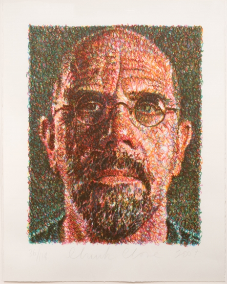 Chuck Close, Self-Portrait, Screenprint