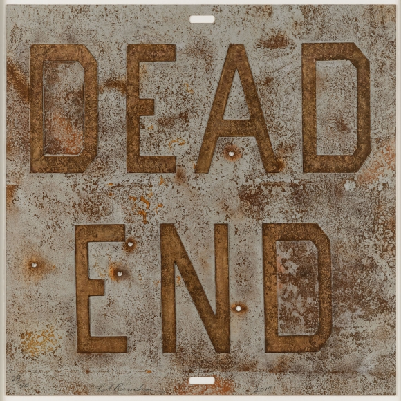 Ed Ruscha, Dead End I, from Rusty Signs, Mixografia print