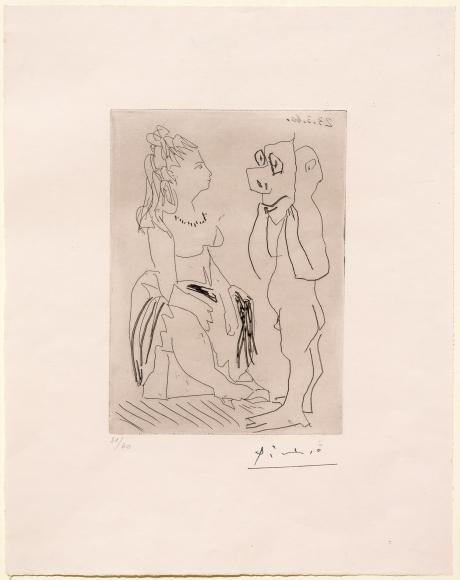 Pablo Picasso, Homme Debout Avec, Etching