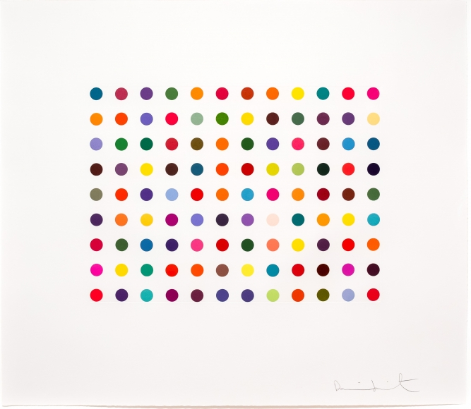 Damien Hirst, Doxylamine, Etching, Aquatint