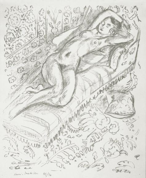 Henri Matisse, Nu Sur Chaise, Lithograph