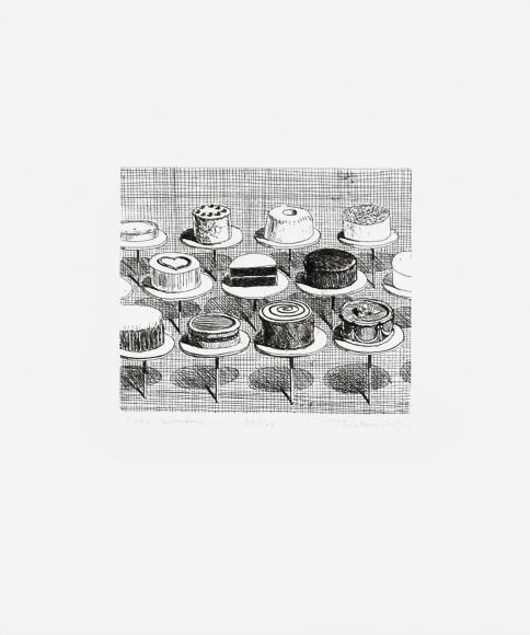 Wayne Thiebaud, Cake Window, Etching