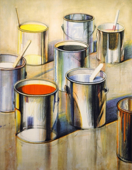 Wayne Thiebaud, Paint Cans, Lithograph
