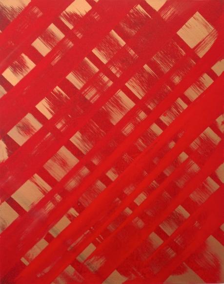 Ed Moses, Red/God, Acrylic