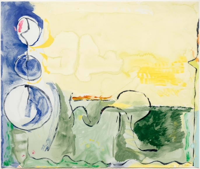 Helen Frankenthaler, Flotilla, Screenprint