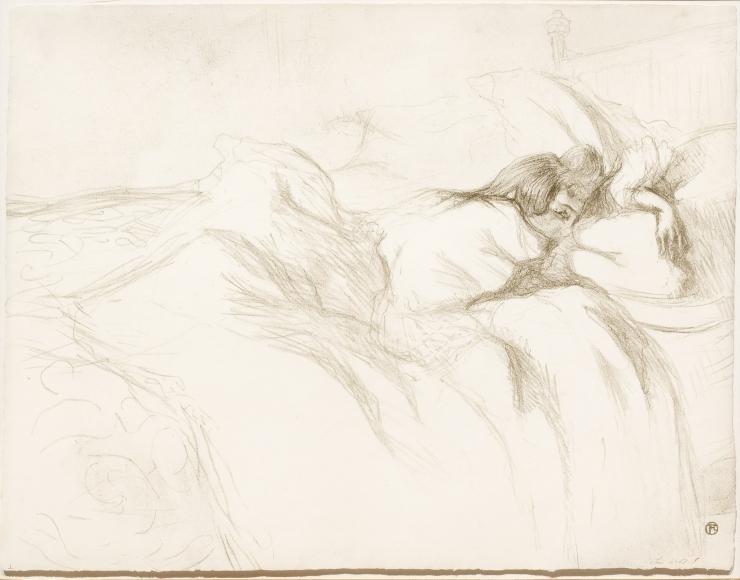 Henri Toulouse-Lautrec, Femme Couchee Reviel, Lithograph