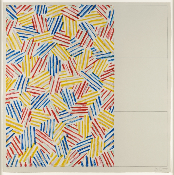 Jasper Johns, #1 (After Untitled 1975), Lithograph
