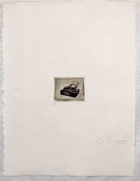 Jasper Johns, Light Bulb (small), Etching